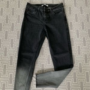 Zara black and gray Ombré skinny jeans